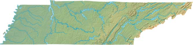 Tennessee relief map
